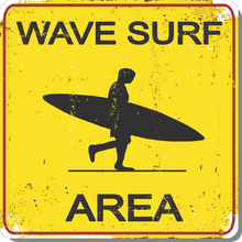 Placa Decorativa Wave Surf 25x25