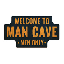 Placa Decorativa Welcome To Man Cave 24x14cm