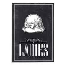 Placa Ladies 20x29cm