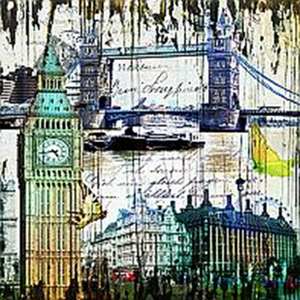 Placa London 30x30cm