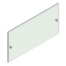 Placa para Fixar Números 18,5cm Acrílico Cristal Kami Acrílicos