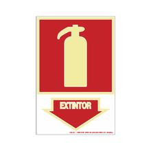 """Placa de Sinalização Plástico Anti Chama """"Extintor"""" 200x300mm 250BD Sinalize"""