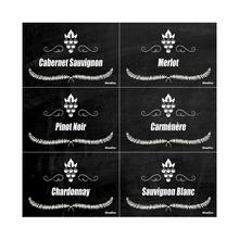 Placa Polietileno Tipos de Vinhos 200x200mm Sinalize