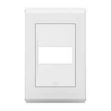 Placa sem Suporte 4x2 1 Módulos Refinatto Style Branco e Branco WEG