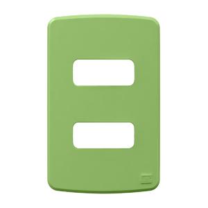 Placa sem Suporte 4x2 2 Módulos Composé Verde WEG