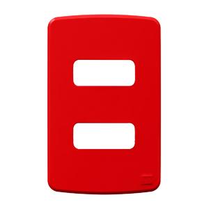 Placa sem Suporte 4x2 2 Módulos Composé Vermelho WEG