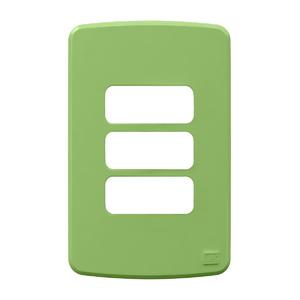 Placa sem Suporte 4x2 3 Módulos Composé Verde WEG
