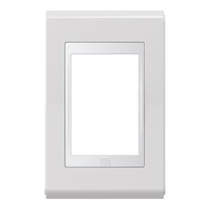 Placa sem Suporte 4x2 3 Módulos Refinatto Premium Branco e Branco WEG