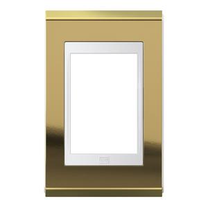 Placa sem Suporte 4x2 3 Módulos Refinatto Concept Branco e Ouro WEG