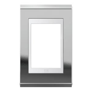 Placa sem Suporte 4x2 3 Módulos Refinatto Concept Branco e Prata WEG