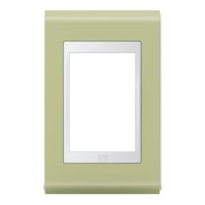 Placa sem Suporte 4x2 3 Módulos Refinatto Style Branco e Pistache WEG
