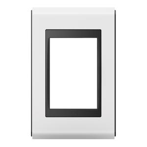 Placa sem Suporte 4x2 3 Módulos Refinatto Style Preto e Branco WEG