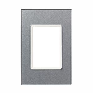 Placa sem suporte 4X2 Acrílico Prata Delta mondo Acrylic Siemens