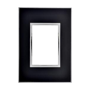 Placa sem Suporte 4x2 Mirror Black Arteor Pial Legrand
