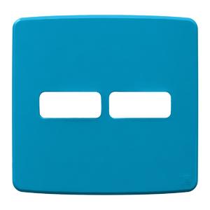 """Placa sem Suporte 4x4"""" 2 Módulos (1+1) Composé Azul WEG"""