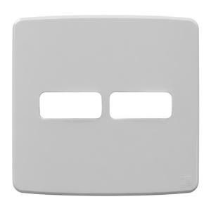 """Placa sem Suporte 4x4"""" 2 Módulos (1+1) Composé Cinza WEG"""