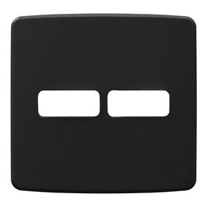 """Placa sem Suporte 4x4"""" 2 Módulos (1+1) Composé Preta  WEG"""