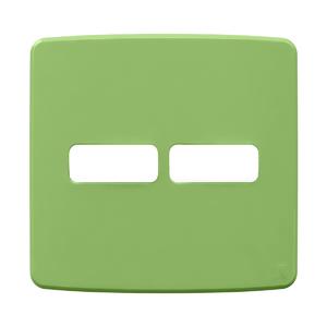 """Placa sem Suporte 4x4"""" 2 Módulos (1+1) Composé Verde WEG"""