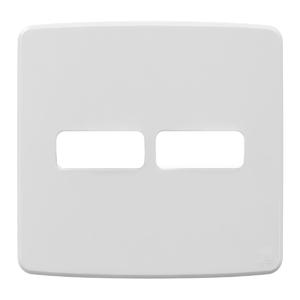 """Placa sem Suporte 4x4"""" 2 Módulos Composé Branco NOBAC WEG"""