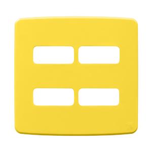 """Placa sem Suporte 4x4"""" 4 Módulos (2+2) Composé Amarela WEG"""