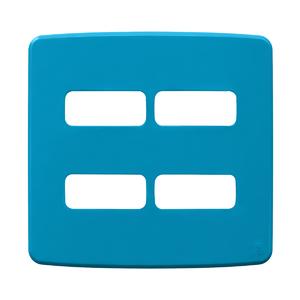 """Placa sem Suporte 4x4"""" 4 Módulos (2+2) Composé Azul WEG"""