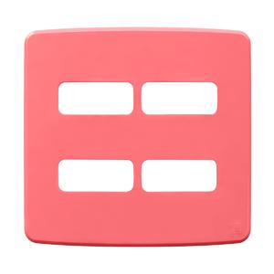 """Placa sem Suporte 4x4"""" 4 Módulos (2+2) Composé Rosa WEG"""