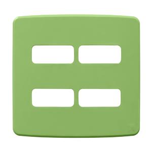 """Placa sem Suporte 4x4"""" 4 Módulos (2+2) Composé Verde WEG"""