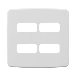 """Placa sem Suporte 4x4"""" 4 Módulos Composé Branco NOBAC WEG"""