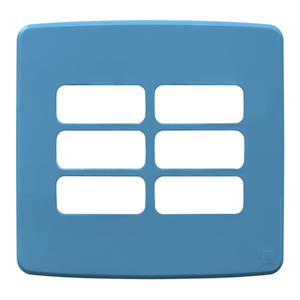 """Placa sem Suporte 4x4"""" 6 Módulos Composé Azul WEG"""