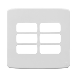 """Placa sem Suporte 4x4"""" 6 Módulos Composé Branco NOBAC WEG"""