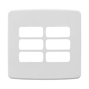 """Placa sem Suporte 4x4"""" 6 Módulos Composé Branco WEG"""