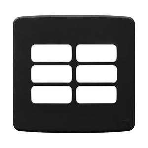 """Placa sem Suporte 4x4"""" 6 Módulos Composé Preta  WEG"""