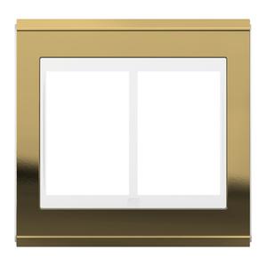 """Placa sem Suporte 4x4"""" 6 Módulos Refinatto Concept Branco e Ouro WEG"""