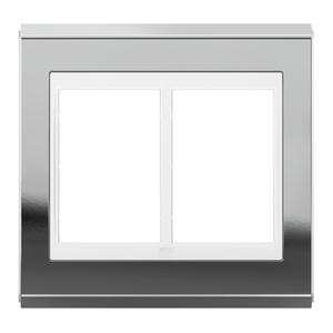 """Placa sem Suporte 4x4"""" 6 Módulos Refinatto Concept Branco e Prata WEG"""