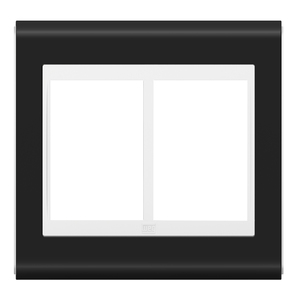 """Placa sem Suporte 4x4"""" 6 Módulos Refinatto Style Branco e Preto WEG"""