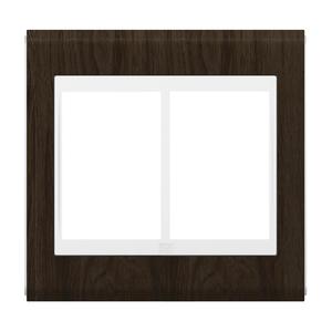 """Placa sem Suporte 4x4"""" 6 Módulos Refinatto Concept Branco e Tabaco WEG"""