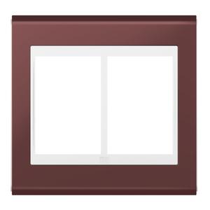 """Placa sem Suporte 4x4"""" 6 Módulos Refinatto Concept Branco e Vinho WEG"""