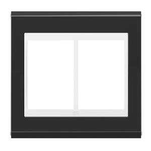 """Placa sem Suporte 4x4"""" 6 Módulos Refinatto Premium Branco e Grafite WEG"""