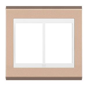 Placa sem Suporte 4x4 6 Módulos Refinatto Concept Branco e Rose Gold WEG