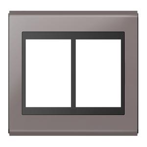 """Placa sem Suporte 4x4"""" 6 Módulos Refinatto Concept Preto e Champanhe WEG"""
