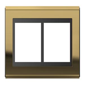 """Placa sem Suporte 4x4"""" 6 Módulos Refinatto Concept Preto e Ouro WEG"""