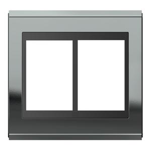 """Placa sem Suporte 4x4"""" 6 Módulos Refinatto Concept Preto e Titanio WEG"""