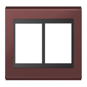 """Placa sem Suporte 4x4"""" 6 Módulos Refinatto Concept Preto e Vinho WEG"""