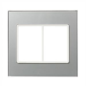 Placa sem suporte 4X4 Acrílico Prata Delta mondo Acrylic Siemens