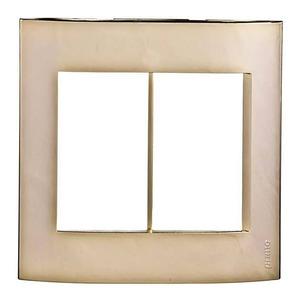 Placa sem Suporte 4x4 Dourado Módena Schneider