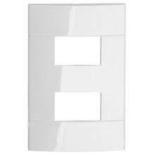 Placa sem Suporte Branca 4x2 2 Modulos Decor Schneider