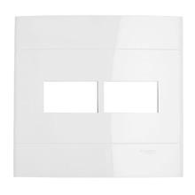 Placa sem Suporte Branca 4x4 2 Modulos Decor Schneider