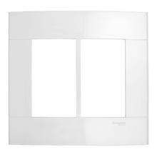 Placa sem suporte Branca 4x4 6 Modulos Decor Schneider