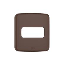 Placa sem Suporte Embutir Moveis 1 Módulo Composé Marrom WEG