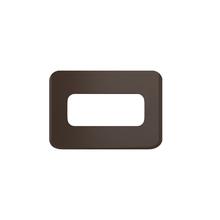 Placa sem Suporte Embutir Moveis PEQ 1 Módulo Composé Marrom WEG